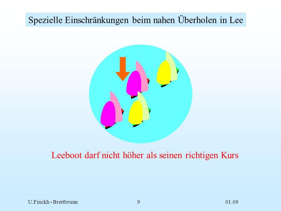 01.09U.Finckh - Breitbrunn8 Berührungen sind auch vom Wegerechtboot zu vermeiden Berührungsfreies Segeln