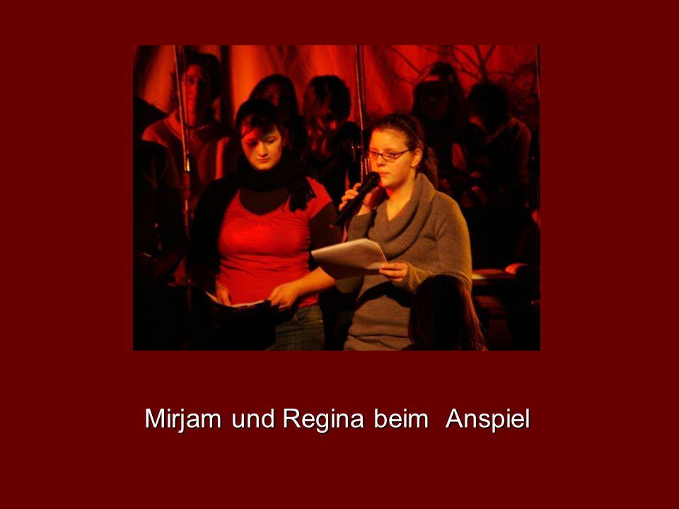 Mirjam und Regina beim Anspiel