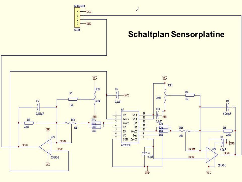 Schaltplan Sensorplatine