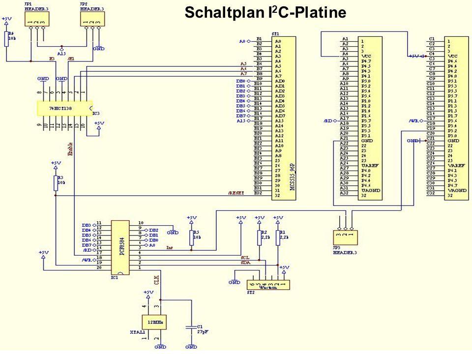 Schaltplan I 2 C-Platine