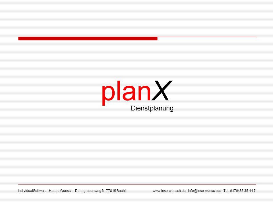 planX Dienstplanung
