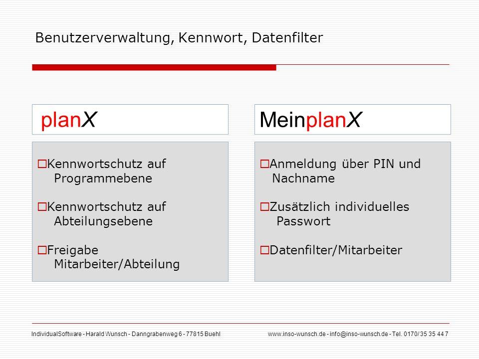 IndividualSoftware - Harald Wunsch - Danngrabenweg 6 - 77815 Buehl www.inso-wunsch.de - info@inso-wunsch.de - Tel. 0170/ 35 35 44 7 Benutzerverwaltung