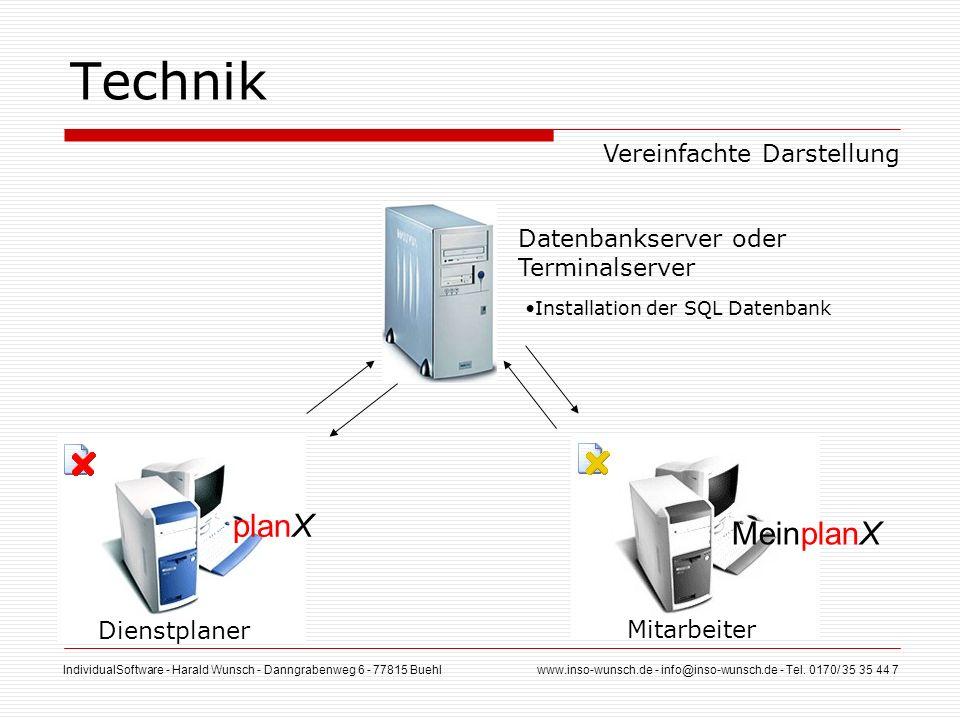 IndividualSoftware - Harald Wunsch - Danngrabenweg 6 - 77815 Buehl www.inso-wunsch.de - info@inso-wunsch.de - Tel. 0170/ 35 35 44 7 Dienstplaner Techn