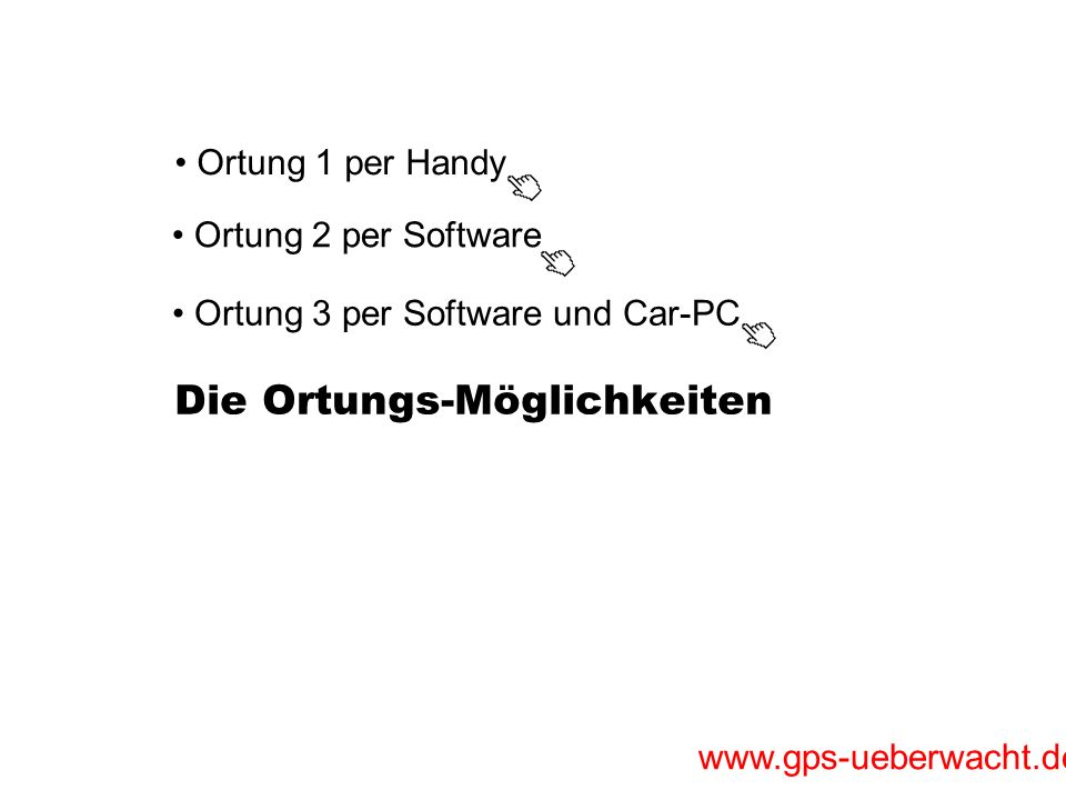 www.gps-ueberwacht.de Car-PC Anwendung: Auftragseingang Auftragsansicht auf dem großen 8 Bildschirm