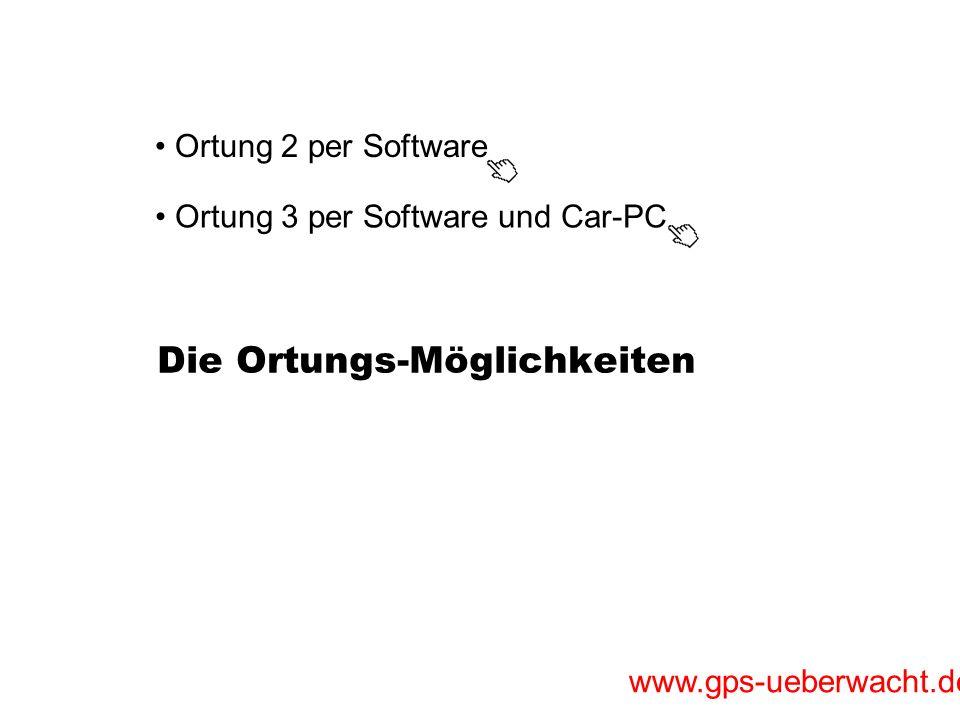 www.gps-ueberwacht.de Ortung 2 mit Softwareanbindung