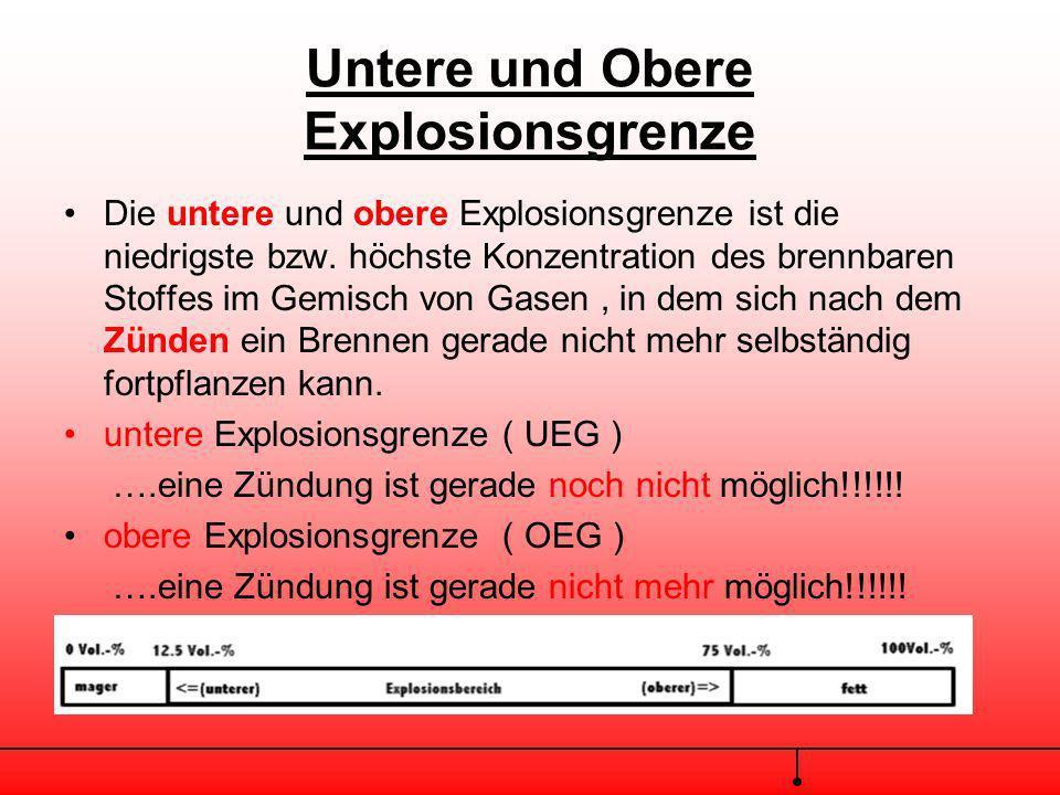Explosion Eine Explosion ist eine plötzlich, äußerst schnell verlaufende Zerfalls oder Oxidationsgeschwindigkeit bei der Wärme frei und/oder eine Druc