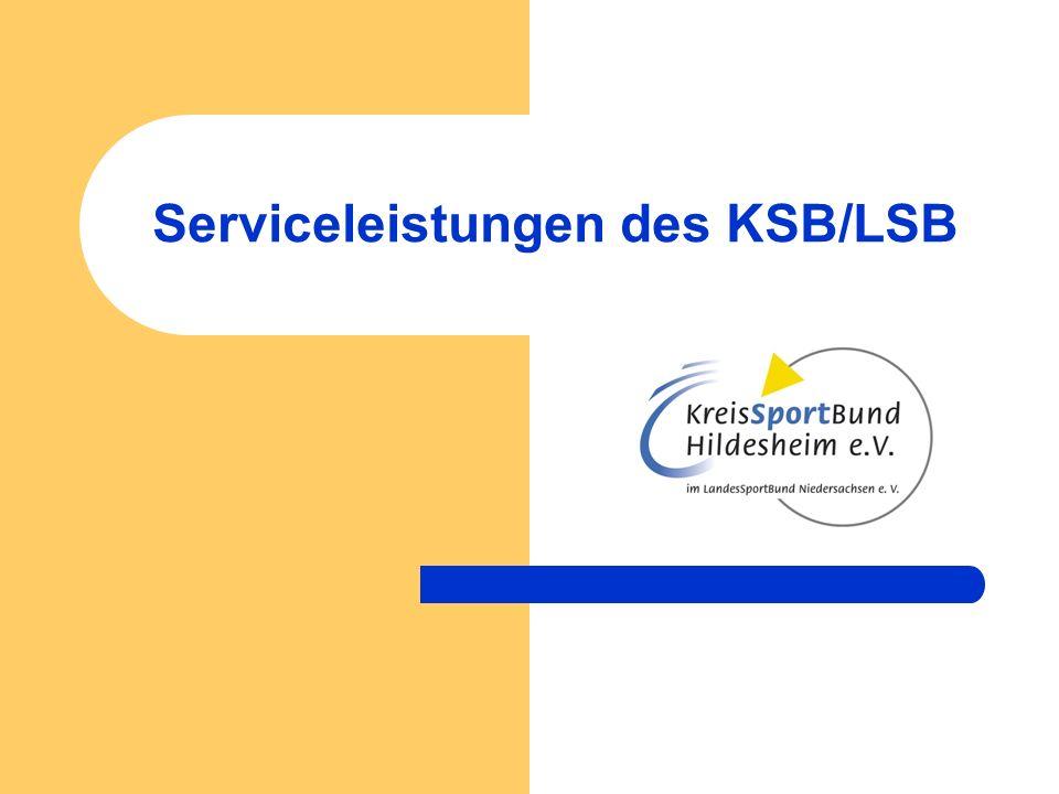 Serviceleistungen des KSB/LSB Allgemeiner Service der Geschäftsstelle für die Vereine - Information - Vermittlung - Beratung (Vereinsbesuche, Beratungs-Workshops,…)
