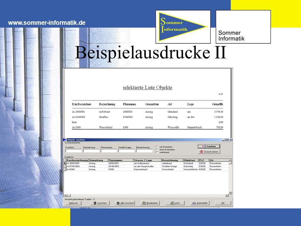 www.sommer-informatik.de Beispielausdrucke II