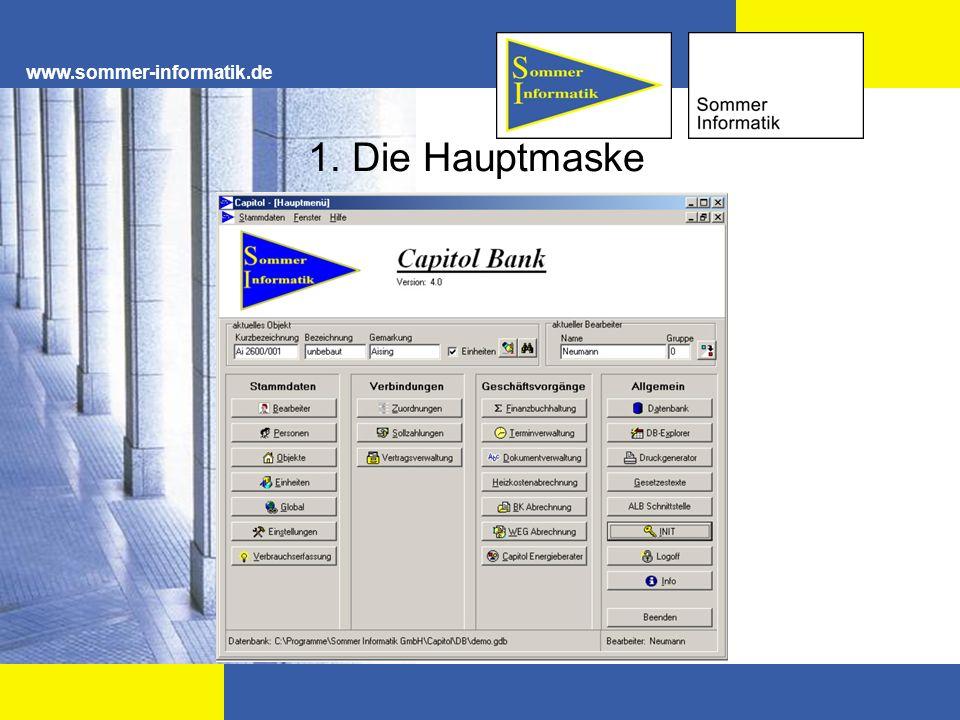 www.sommer-informatik.de 3.3 Vertragsverwaltung Mit dem Modul Vertragsverwaltung kann das gesamte Vertragswesen abgewickelt werden.