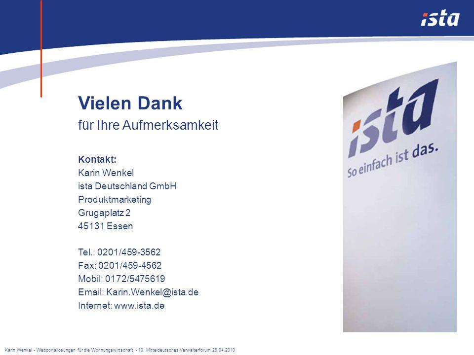 Karin Wenkel - Webportallösungen für die Wohnungswirtschaft - 10. Mitteldeutsches Verwalterforum 29.04.2010 Sie wollen einen besseren Überblick über d