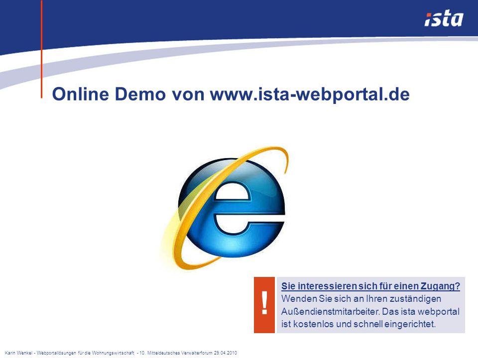 Karin Wenkel - Webportallösungen für die Wohnungswirtschaft - 10. Mitteldeutsches Verwalterforum 29.04.2010 Es umfasst bereits jetzt viele hilfreiche
