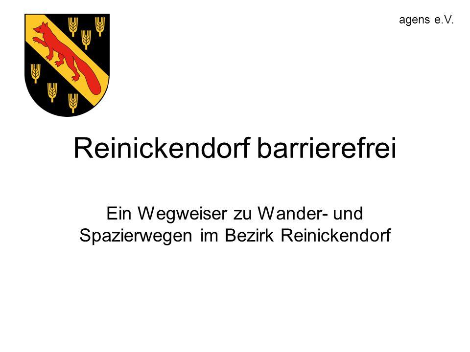 Reinickendorf barrierefrei Ein Wegweiser zu Wander- und Spazierwegen im Bezirk Reinickendorf agens e.V.