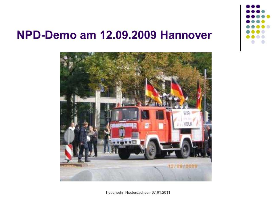 Feuerwehr Niedersachsen 07.01.2011 NPD-Demo am 12.09.2009 Hannover
