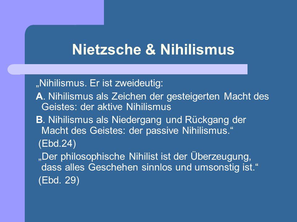 Was ist Nihilismus? Nihilismus (lateinisch nihil »nichts«) ist die Denkensweise, die eine Erkenntnis-, Seins-, Wert- oder Gesellschaftsordnung leugnet
