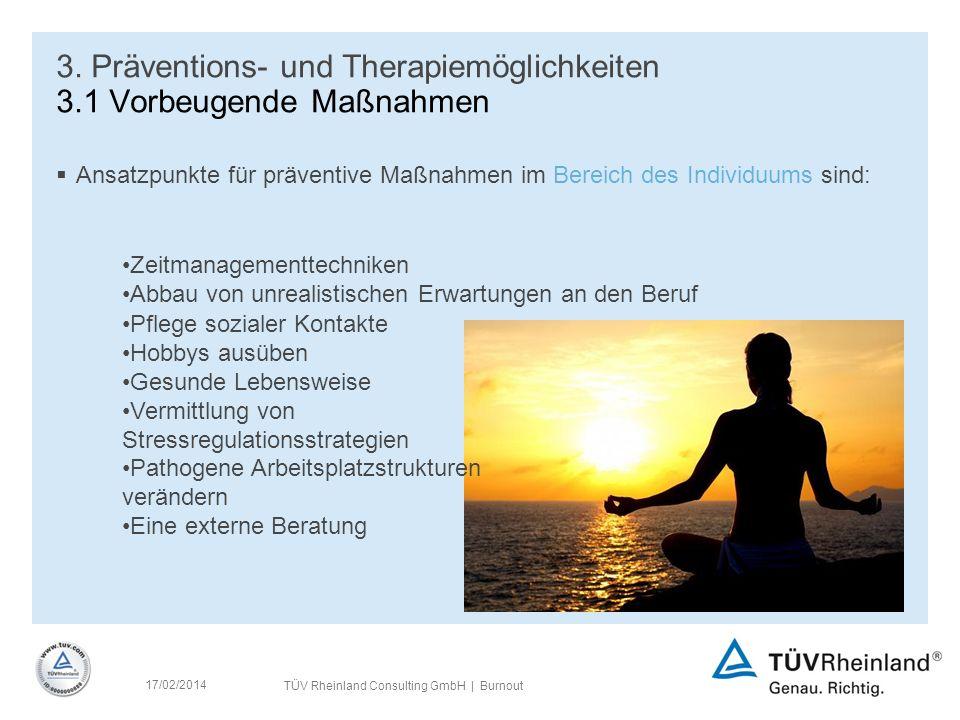 TÜV Rheinland Consulting GmbH | Burnout 17/02/2014 3.