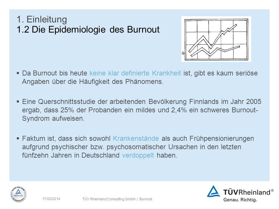 TÜV Rheinland Consulting GmbH | Burnout 17/02/2014 1.
