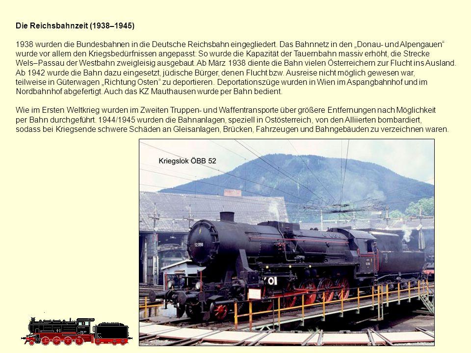 Die Bundesbahnen Österreich (1918–1938) Da die schweizerische Oensingen-Balsthal-Bahn offiziell die Abkürzung OeBBverwendete, mussten die Österreichischen Bundesbahnen in der Zwischenkriegszeit als Bundesbahnen Österreich (BBÖ) verwenden.