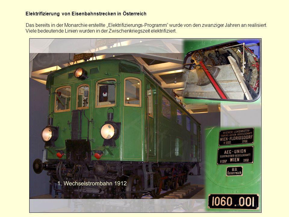 Die Österreichischen Bundesbahnen (1945 bis heute) Die Kriegslokomotiven der Reihe 52 waren bis zum Ende der Dampftraktion anzutreffen.