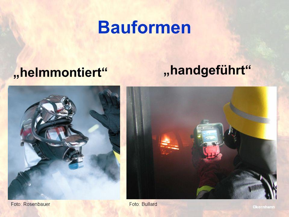 Bauformen Foto: Rosenbauer helmmontiert Foto: Bullard handgeführt