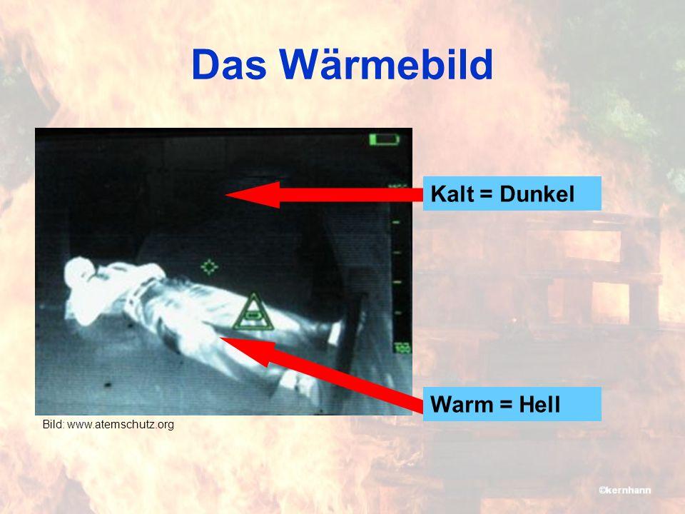 Das Wärmebild Bild: www.atemschutz.org Kalt = Dunkel Warm = Hell