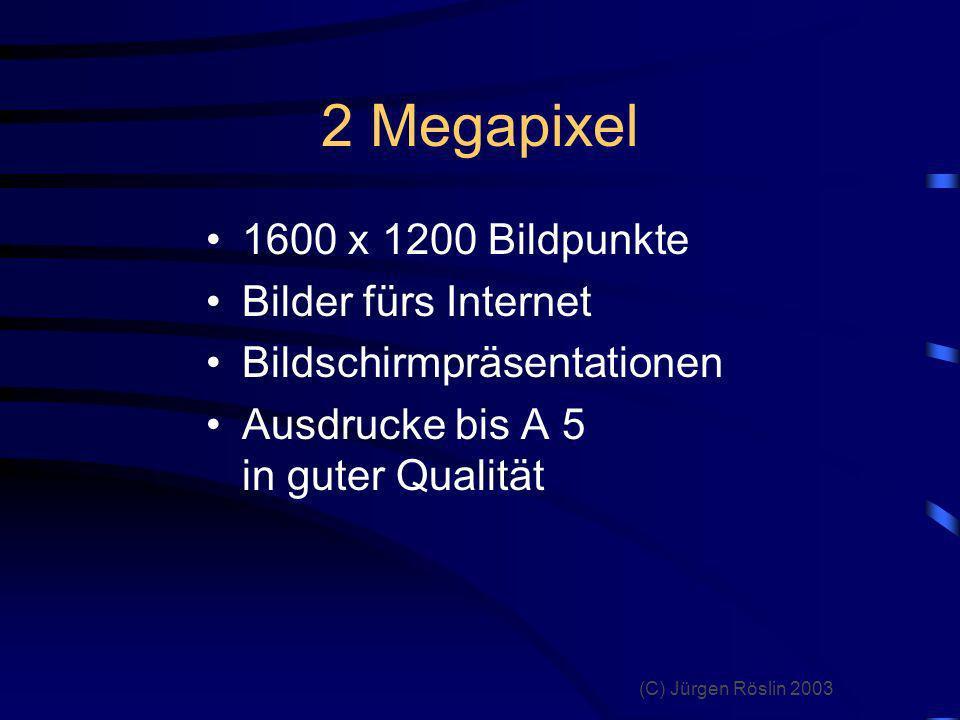 (C) Jürgen Röslin 2003 3 Megapixel 2048 x 1536 Bildpunkte Bildausschnitte Bilder fürs Internet Bildschirmpräsentationen Ausdrucke bis A 4 in guter Qualität