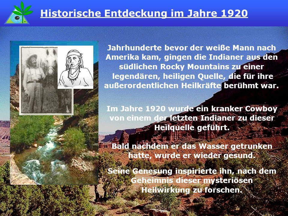 Als er in den Bergen den Lauf der Quelle zurückverfolgte, entdeckte er, dass das Wasser durch eine Anhäufung eines merkwürdigen Materials floss.