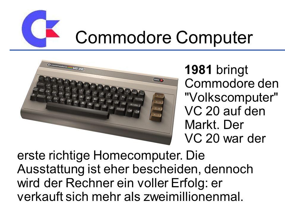 1981 bringt Commodore den