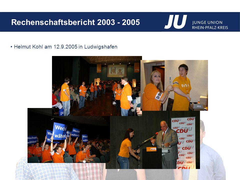 Rechenschaftsbericht 2003 - 2005 Helmut Kohl am 12.9.2005 in Ludwigshafen