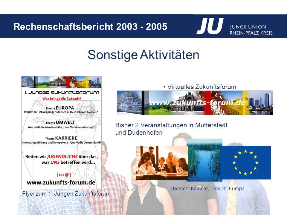 Rechenschaftsbericht 2003 - 2005 Virtuelles Zukunftsforum Flyer zum 1.