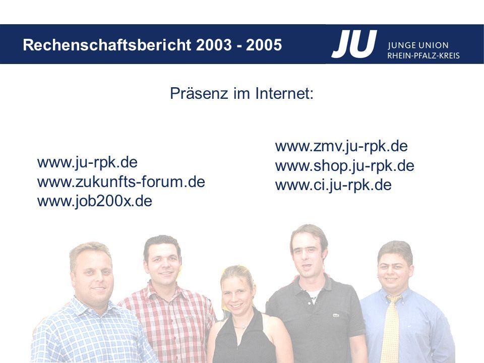 Präsenz im Internet: www.ju-rpk.de www.zukunfts-forum.de www.job200x.de www.zmv.ju-rpk.de www.shop.ju-rpk.de www.ci.ju-rpk.de