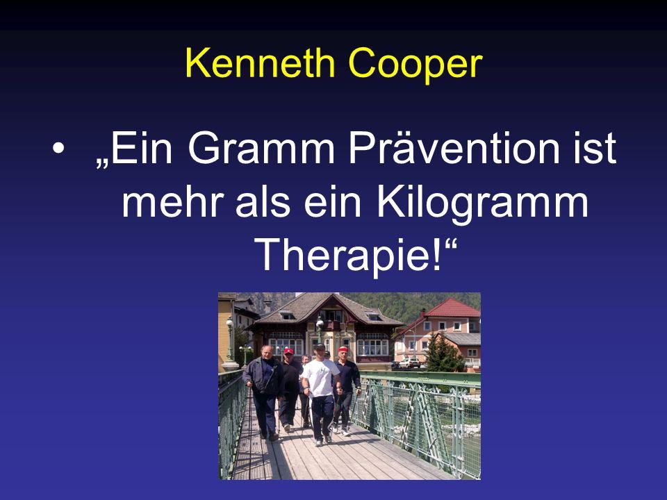Kenneth Cooper Ein Gramm Prävention ist mehr als ein Kilogramm Therapie!
