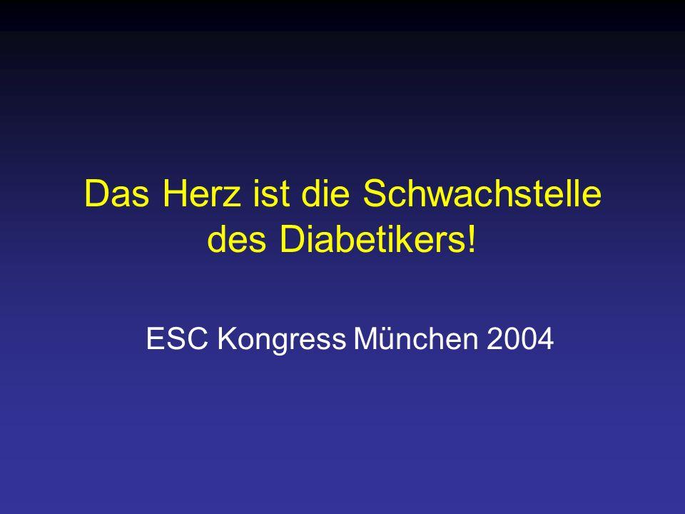 Das Herz ist die Schwachstelle des Diabetikers! ESC Kongress München 2004