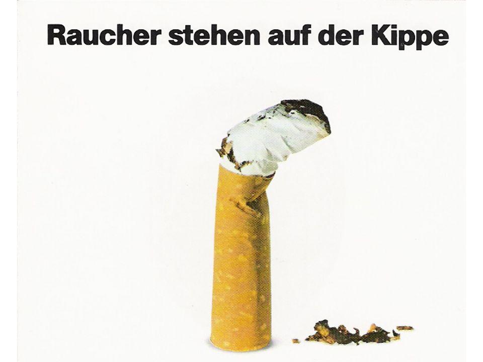 Zigarettenrauchen 29% aller Österreicher rauchen -32% Männer -29% Frauen 2.3 Milionen Raucher -1.2 Millionen Männer -1.1 Millionen Frauen