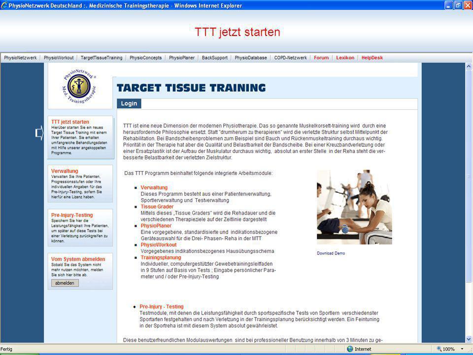 TTT jetzt starten