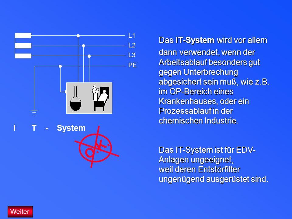 Das IT-System wird vor allem dann verwendet, wenn der Arbeitsablauf besonders gut gegen Unterbrechung abgesichert sein muß, wie z.B. im OP-Bereich ein