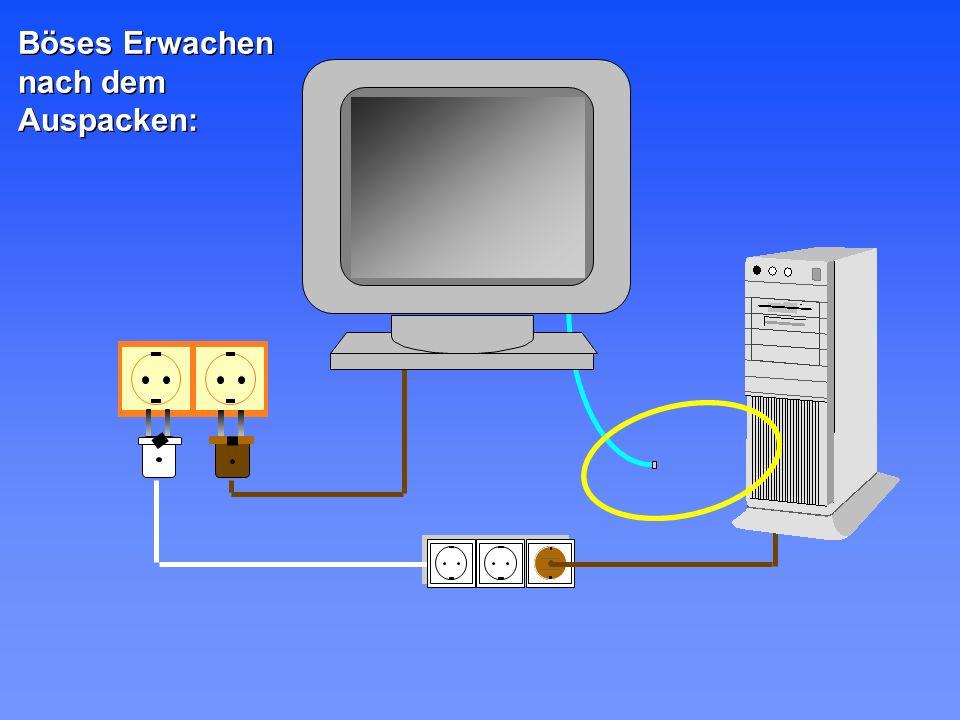 L1 L2 L3 N PE Alle Geräte eines Arbeitsplatzes in die gleiche Mehrfachsteckdose Wenn möglich, Installation eines TN-S oder TT-Stromversorgungsystems Lichtwellenleiter zwischen verschie- denen Gebäudeteilen verwenden Bei kleinen Netzwerken die Stromversorgung mitführen Mit diesen 5 Tips sind Sie auf der sicheren Seite: