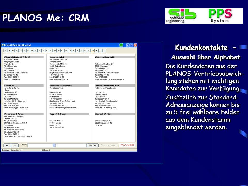 PLANOS Me: CRM Outlook Integration – Postausgang Auch gesendete E-Mails können über zusätzliche Buttons in der Outlook- Maske auf einfache Art und Weise inklusive aller Anhänge in PLANOS-CRM übernommen werden.