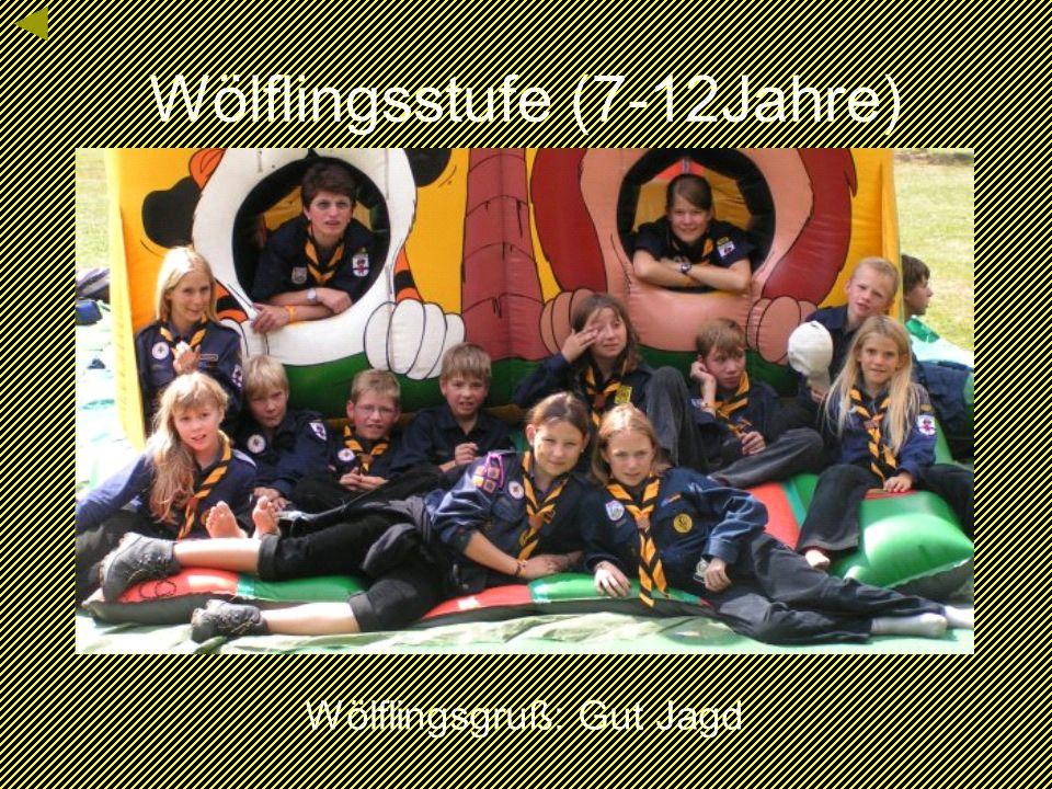 Wölflingsstufe (7-12Jahre) Wölflingsgruß: Gut Jagd