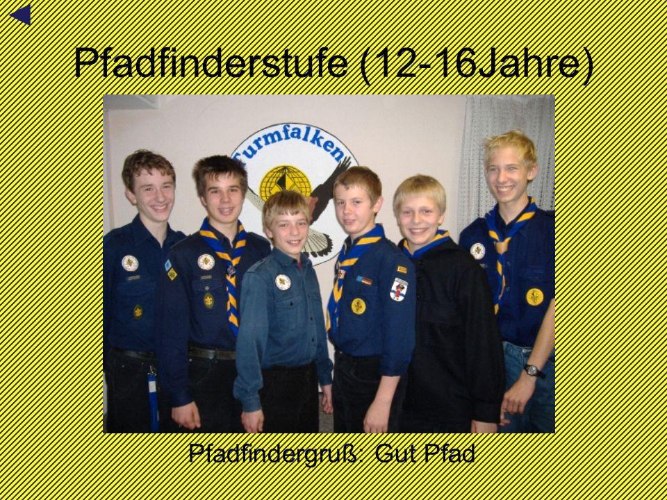 Pfadfinderstufe (12-16Jahre) Pfadfindergruß: Gut Pfad