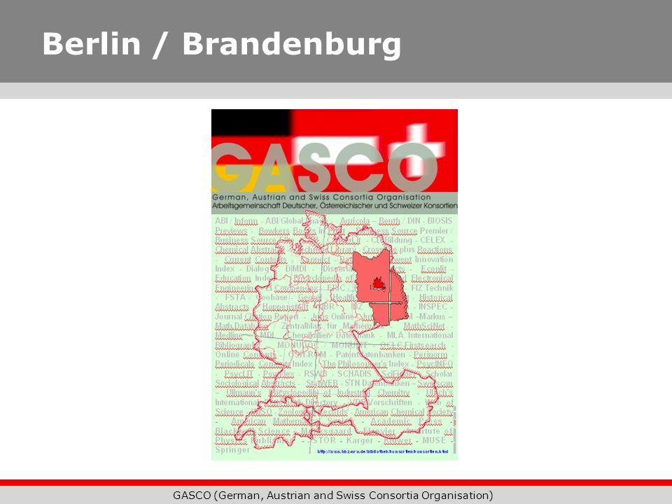 GASCO (German, Austrian and Swiss Consortia Organisation) Berlin / Brandenburg