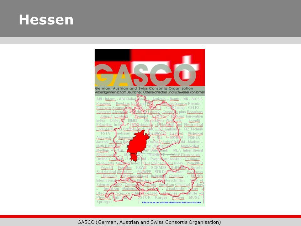 GASCO (German, Austrian and Swiss Consortia Organisation) Hessen