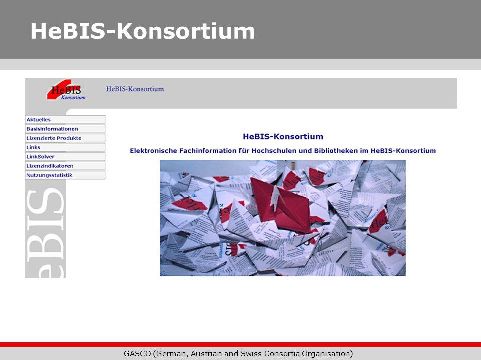 GASCO (German, Austrian and Swiss Consortia Organisation) HeBIS-Konsortium