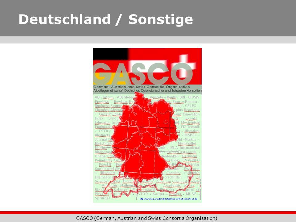 GASCO (German, Austrian and Swiss Consortia Organisation) Deutschland / Sonstige