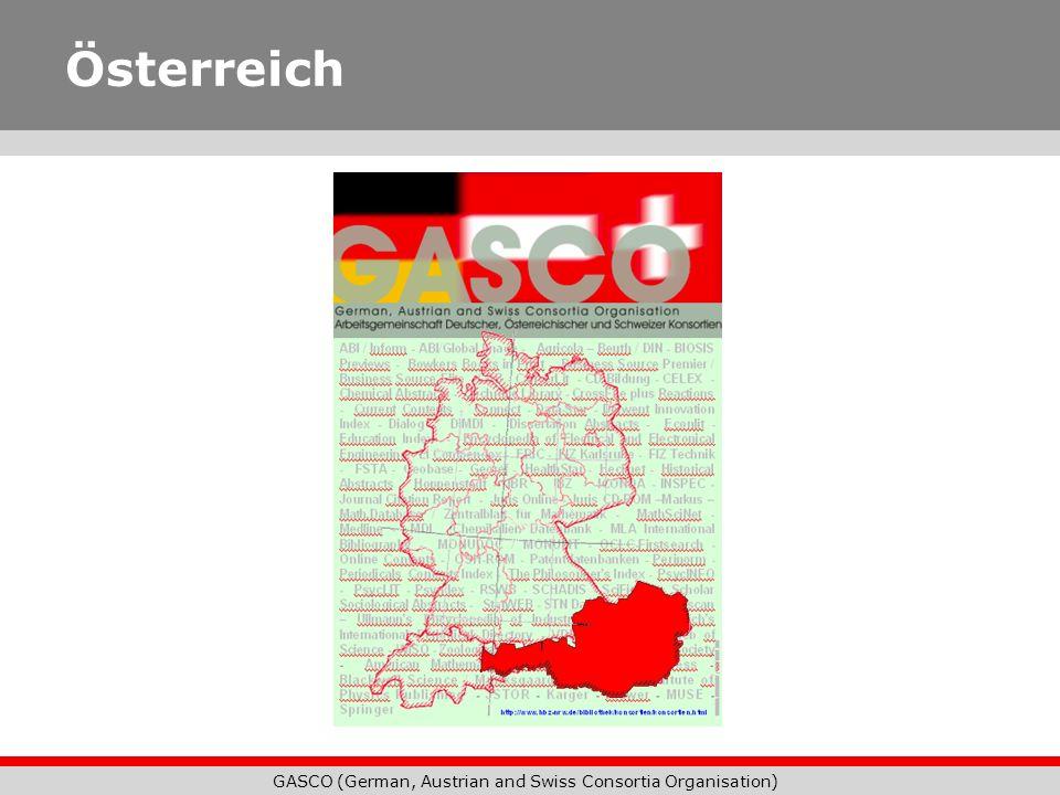 GASCO (German, Austrian and Swiss Consortia Organisation) Niedersachsen-Konsortium Im Internet: http://nds-konsortium.sub.uni- goettingen.de Kontakt: Christine Hasemann UB/TIB Hannover Christine.Hasemann@tib.uni- hannover.de