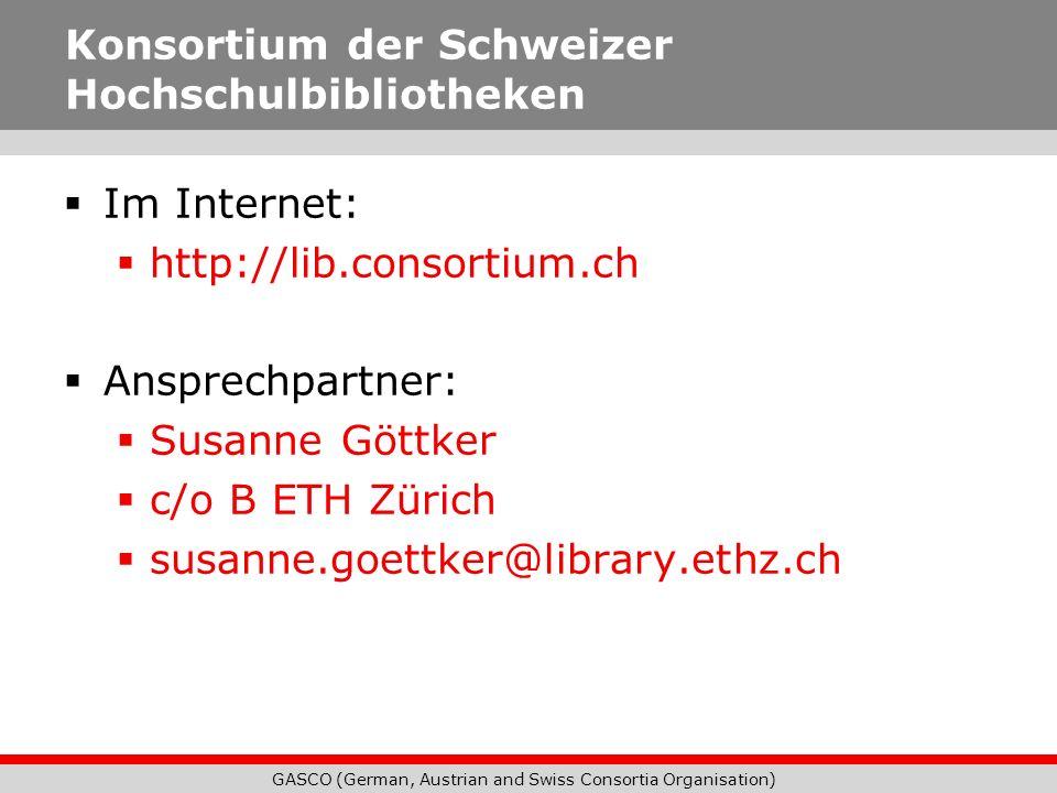 GASCO (German, Austrian and Swiss Consortia Organisation) Deutschland