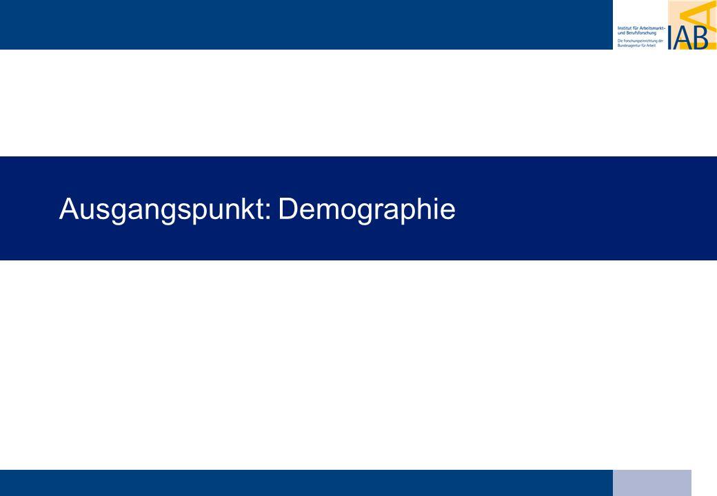 Qualifikationsanforderungen der Betriebe steigen Ersatzbedarf an Qualifizierten aufgrund der demographischen Entwicklung hoch Qualifikationsstruktur der Erwerbsbevölkerung verbessert sich nicht weiter wachsendes Risiko eines Fachkräftemangels Zusammenspiel von Strukturwandel und Demographie