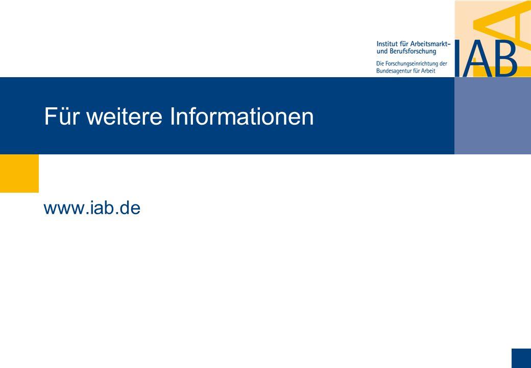 Für weitere Informationen www.iab.de