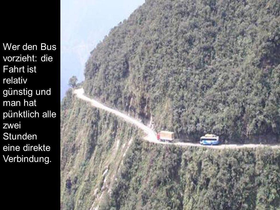 Wer den Bus vorzieht: die Fahrt ist relativ günstig und man hat pünktlich alle zwei Stunden eine direkte Verbindung.
