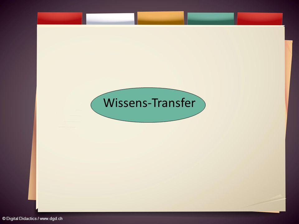 © Digital Didactics / www.dgd.ch Wissens-Transfer