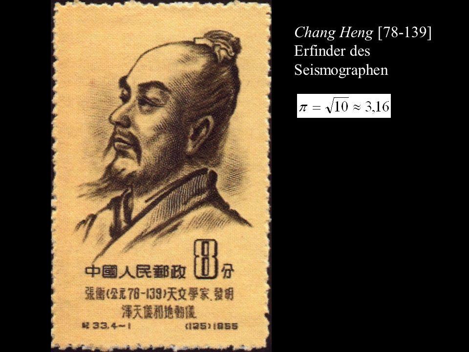Chang Heng [78-139] Erfinder des Seismographen